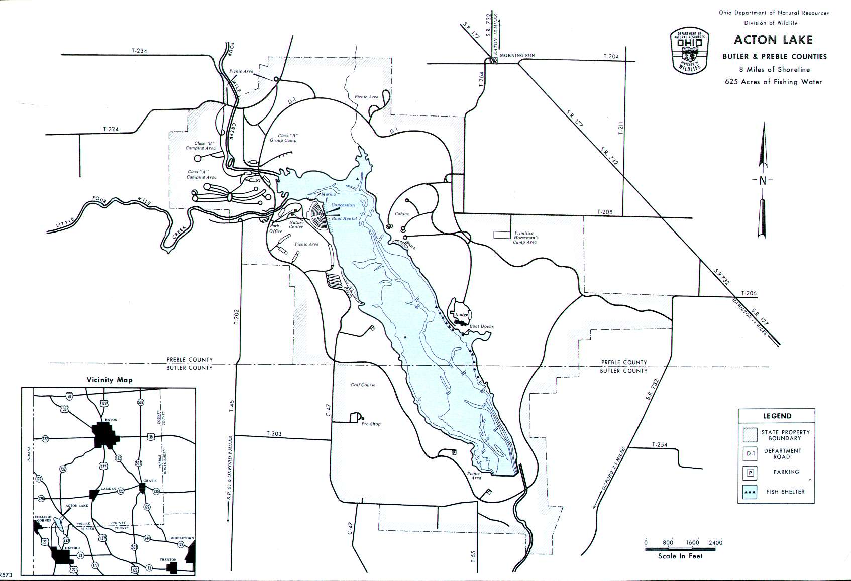 Acton Lake Fishing Map | Southwest Ohio Fishing