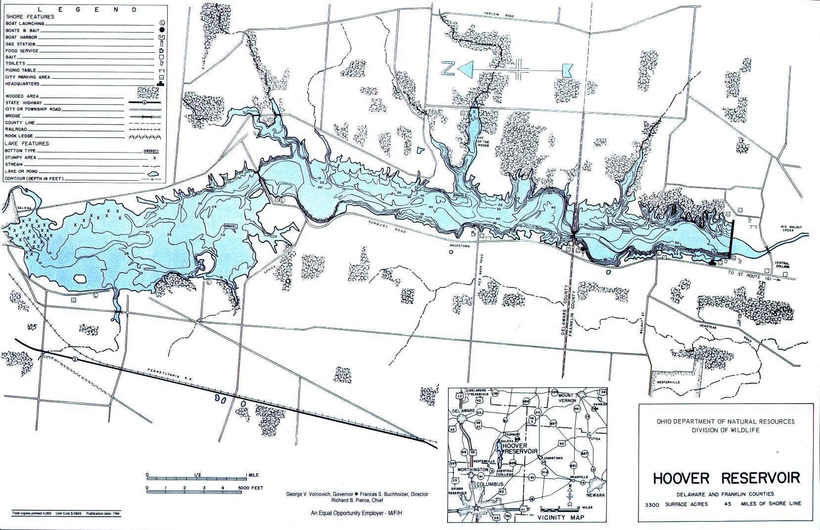 Reservoir Fishing Map Central Ohio Fishing - Central ohio map