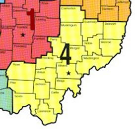Southeast Ohio Fishing Maps - Region 4