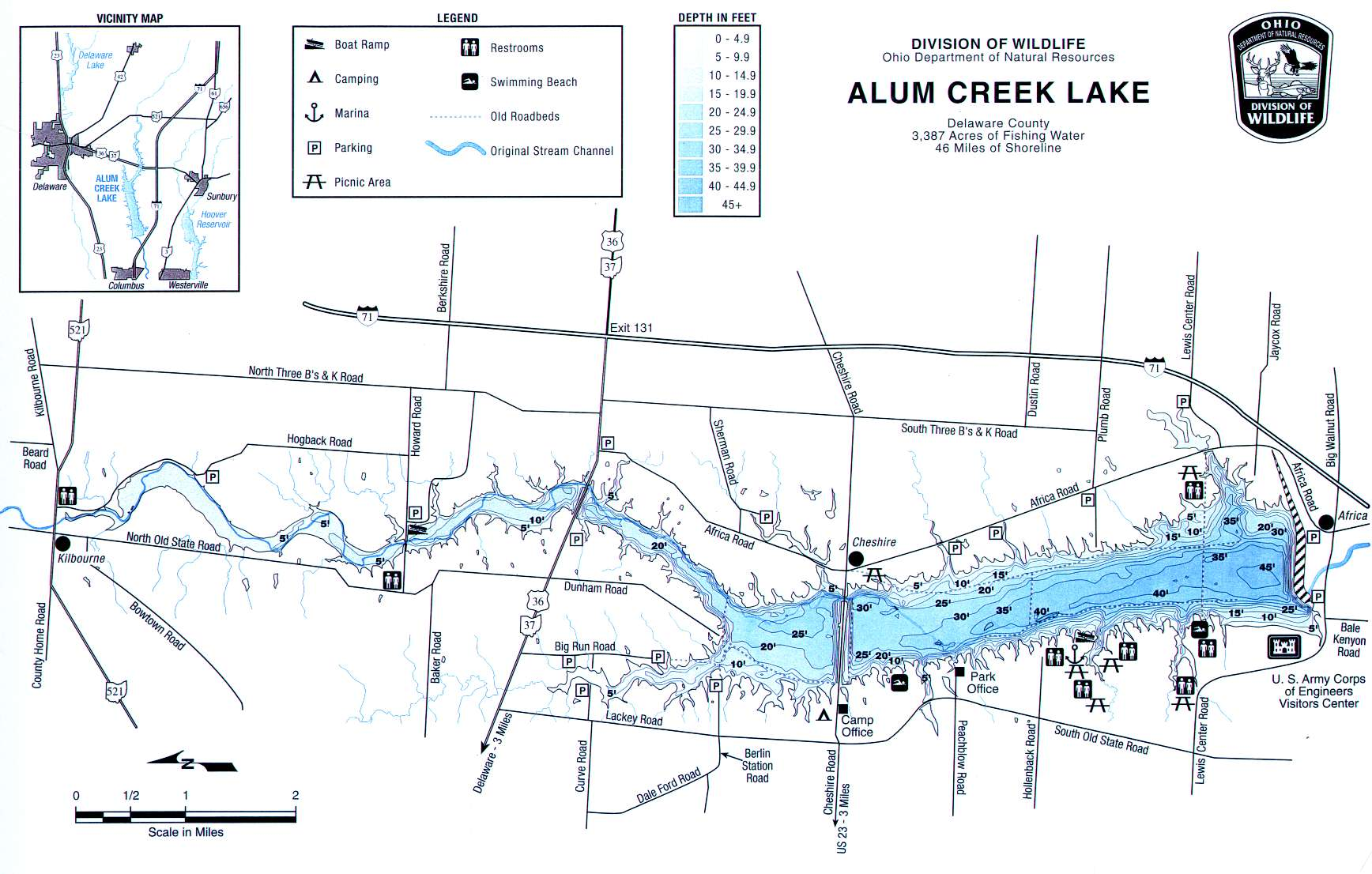 Alum Creek Fishing Map | Central Ohio Fishing