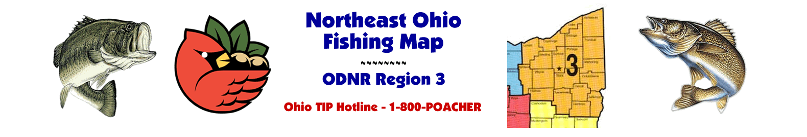 NE Ohio Fishing Map - ODNR Region Three