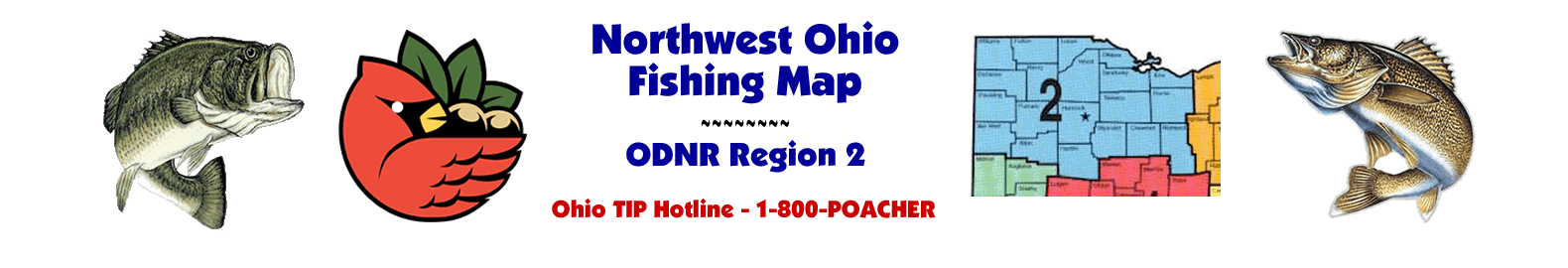 Northwest Ohio Fishing Maps - ODNR Region Two