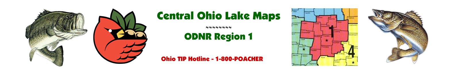 Central Ohio Fishing Maps - ODNR Region One