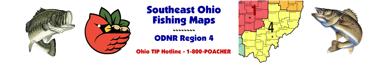 Southeast Ohio Fishing Maps - ODNR Region 4