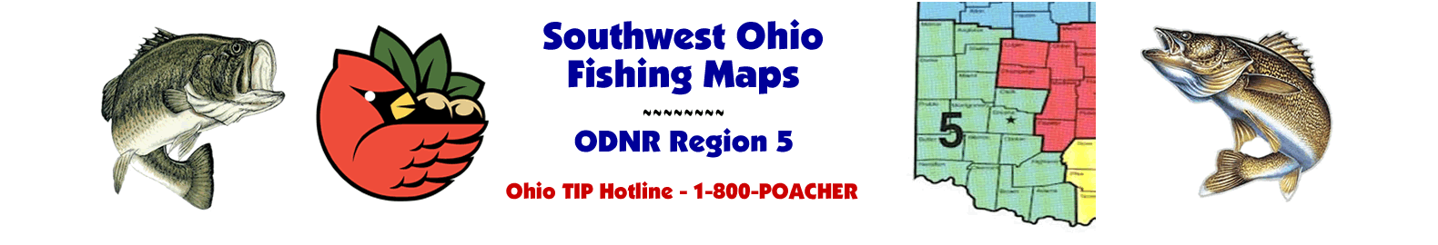 Southwest Ohio Fishing Maps - ODNR Region Five