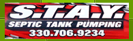 STAY Septic Tank Pumping - 330-706-9234