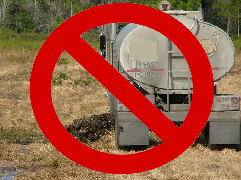 NO Land Application Septic Dumping