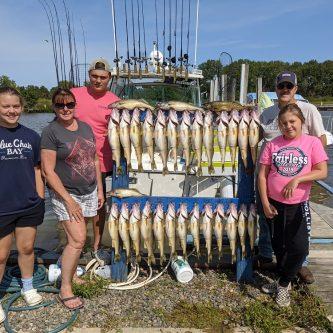 Blue Dolphin Charters Walleye Fishing Report