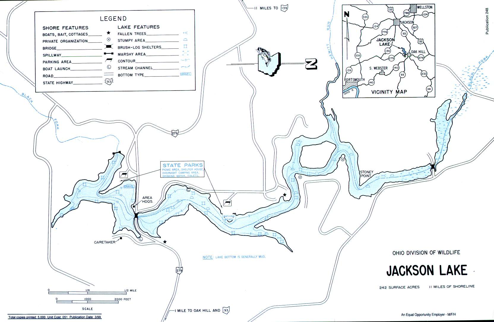 Jackson Lake Fishing Map - GoFishOhio