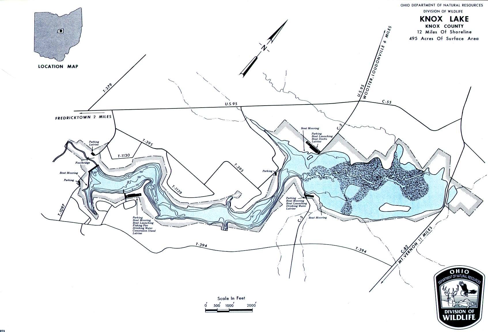 Knox Lake Fishing Map - GoFishOhio