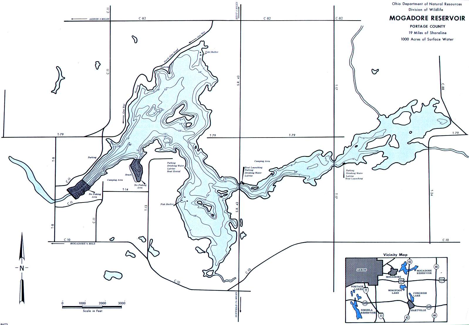 Mogadore Reservoir Fishing Map - GoFishOhio