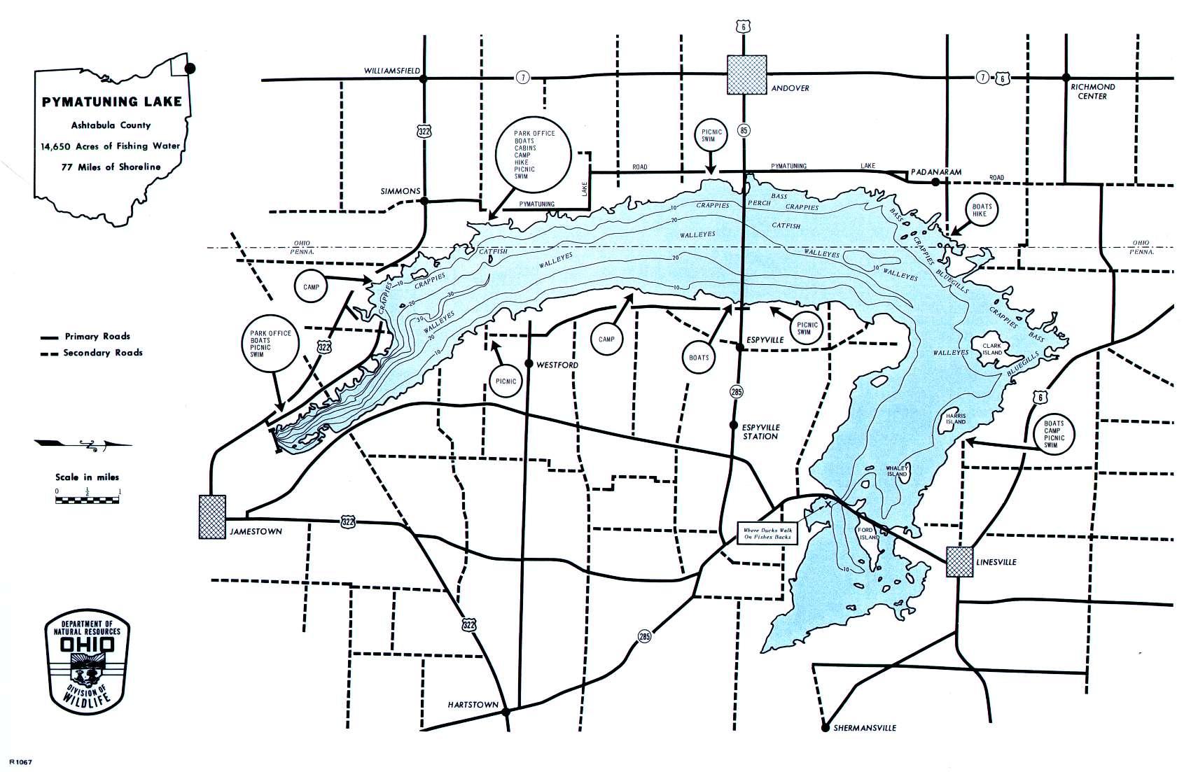 Pymatuning Lake Fishing Map - GoFishOhio