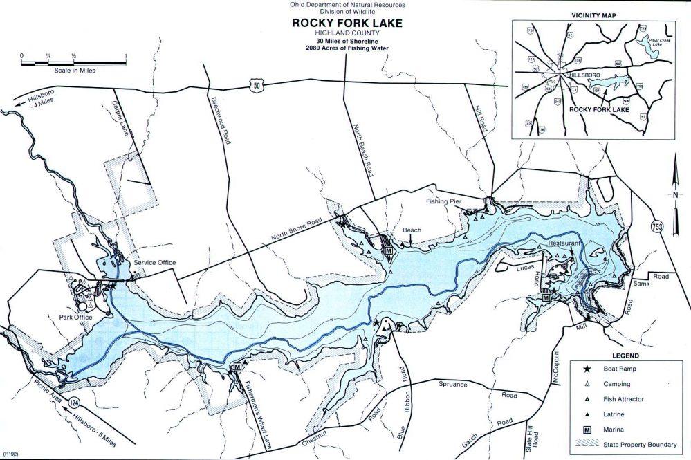 Rocky Fork Lake Bass Fishing Report